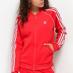 Adidas chaquetas y abrigos rojo Zip up jacket poshmark